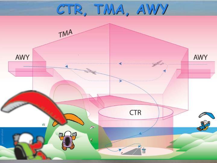 CTR, TMA, AWY