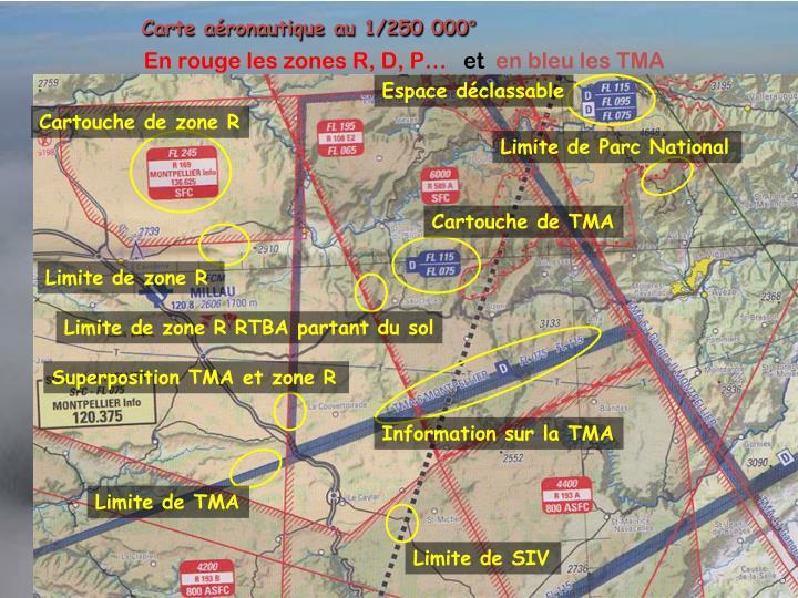 Carte aéronautique au 1/250 000°