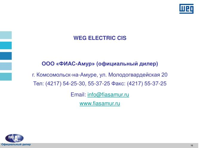 WEG ELECTRIC CIS