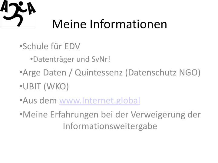 Meine Informationen