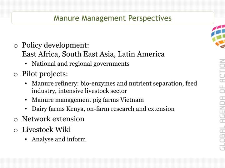 Manure Management Perspectives