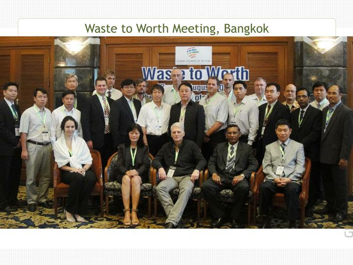 Waste to Worth Meeting, Bangkok