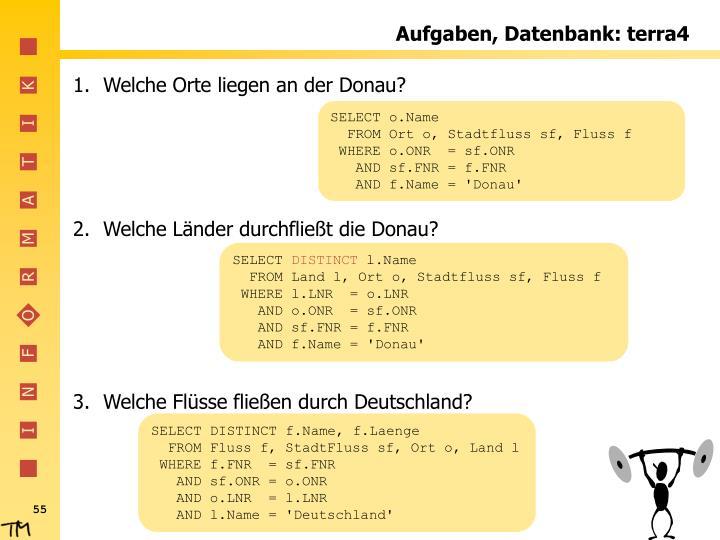 Aufgaben, Datenbank: terra4