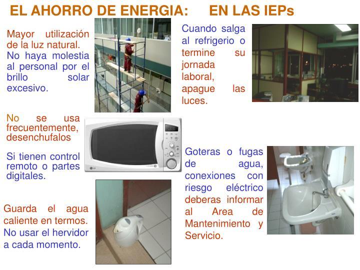 EL AHORRO DE ENERGIA: