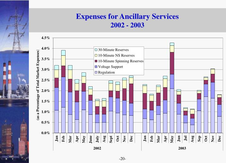 Expenses for Ancillary Services