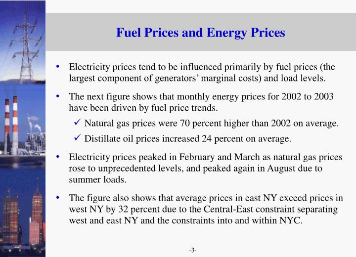 Fuel Prices and Energy Prices