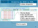 anatomia do 3030 no xml