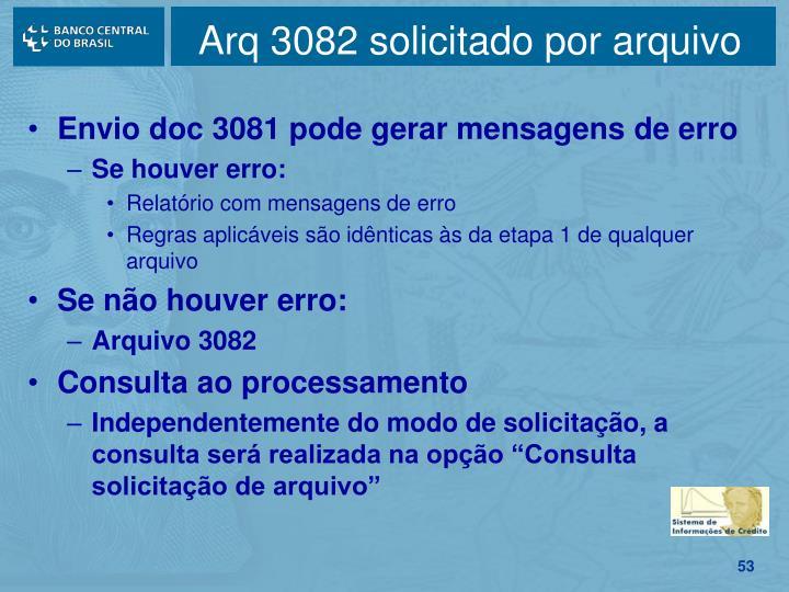 Arq 3082 solicitado por arquivo