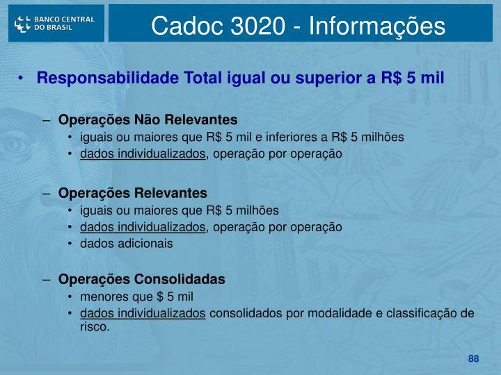 Cadoc 3020 - Informações