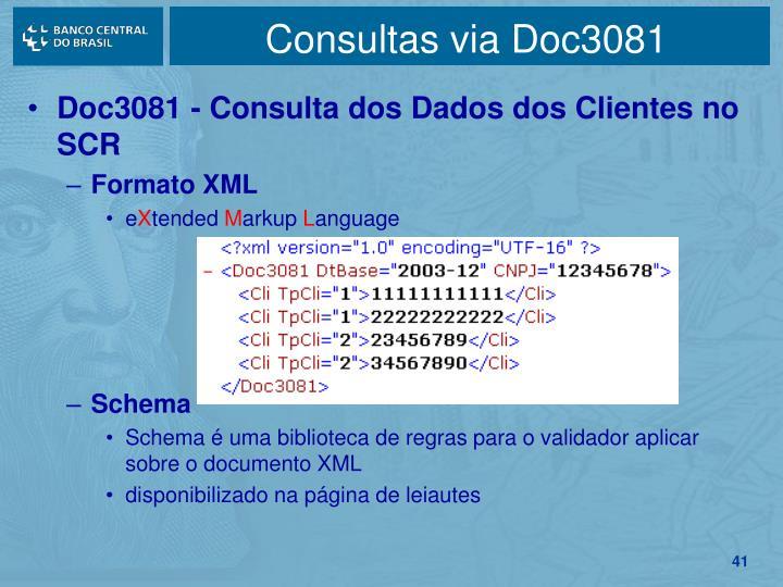 Consultas via Doc3081