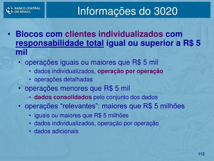 Informações do 3020