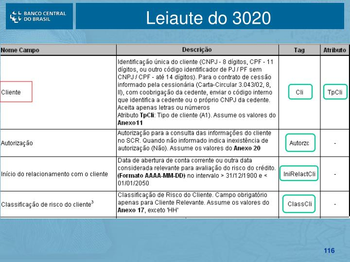 Leiaute do 3020