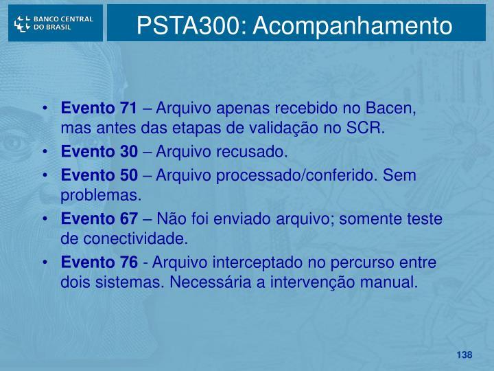 PSTA300: Acompanhamento