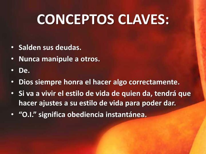 CONCEPTOS CLAVES: