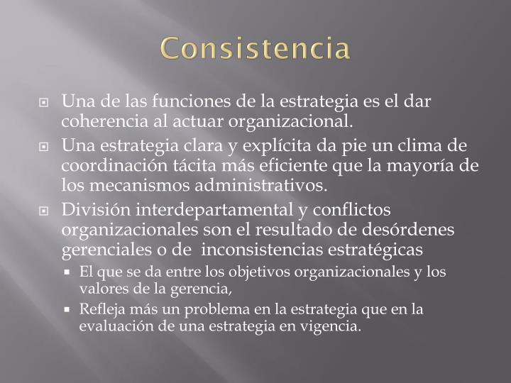 Consistencia