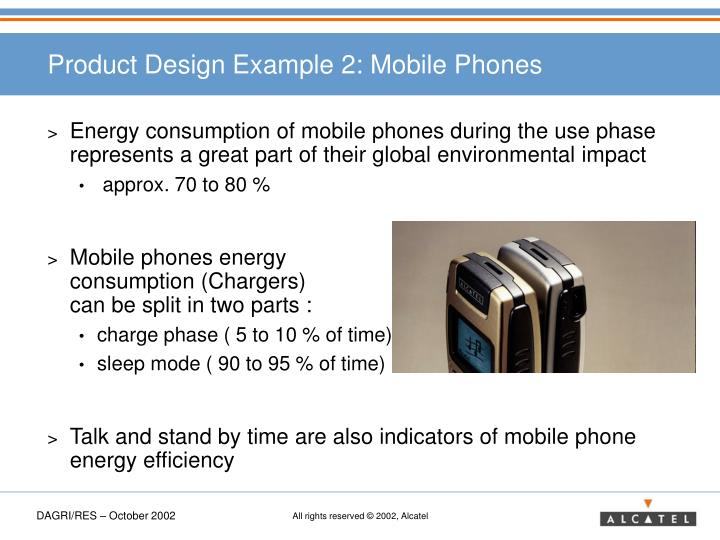 Product Design Example 2: Mobile Phones