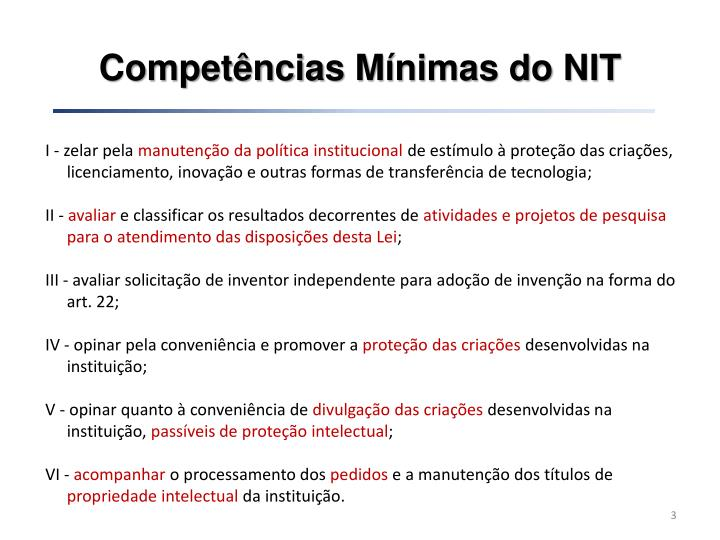 Compet ncias m nimas do nit