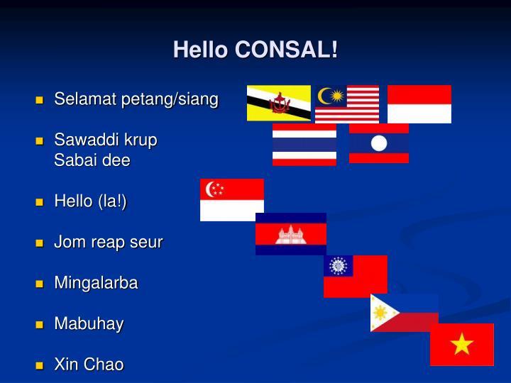 Hello CONSAL!