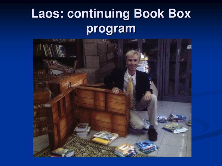 Laos: continuing Book Box program