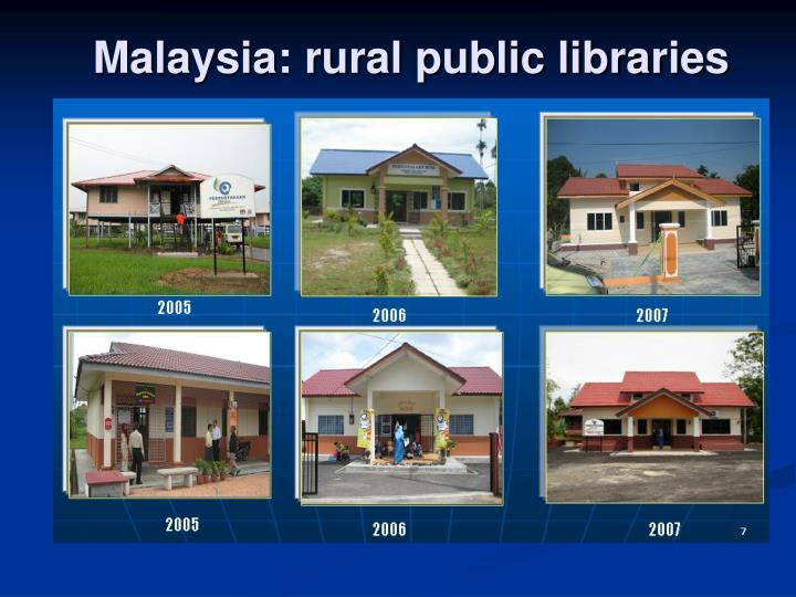 Malaysia: rural public libraries