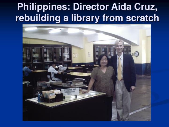 Philippines: Director Aida Cruz, rebuilding a library from scratch