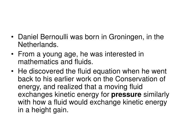 Who was Bernoulli?