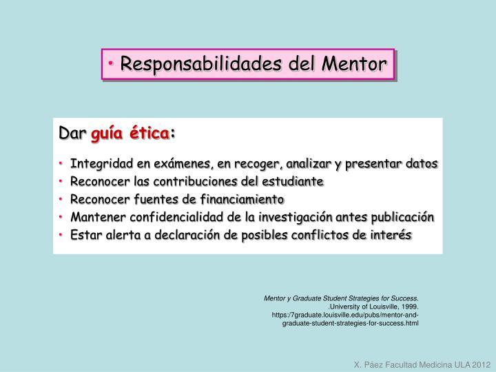 Responsabilidades del Mentor