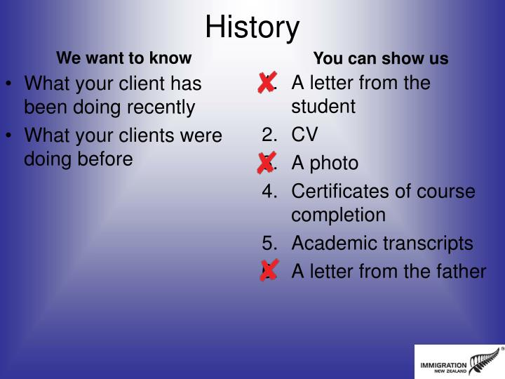 What your client has been doing recently