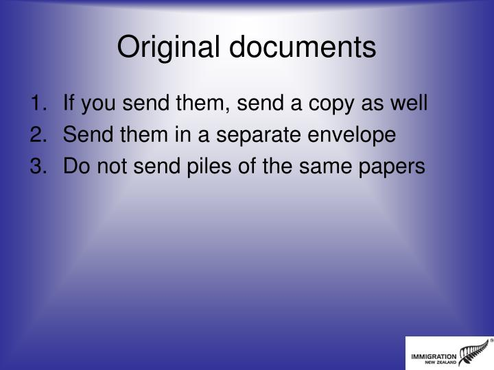 Original documents