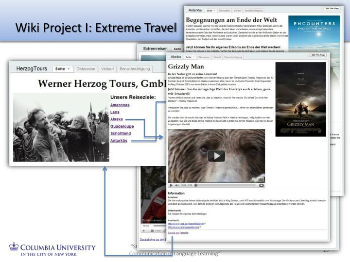 Wiki Project I: Extreme Travel