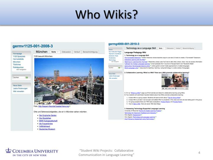 Who Wikis?