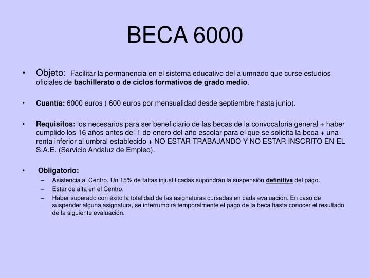 BECA 6000