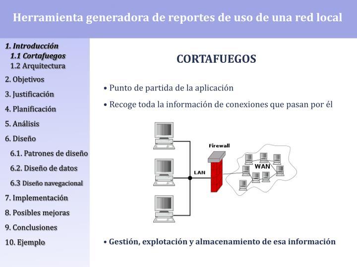 Herramienta generadora de reportes de uso de una red local