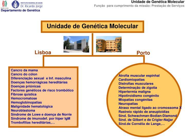 Unidade de Genética Molecular