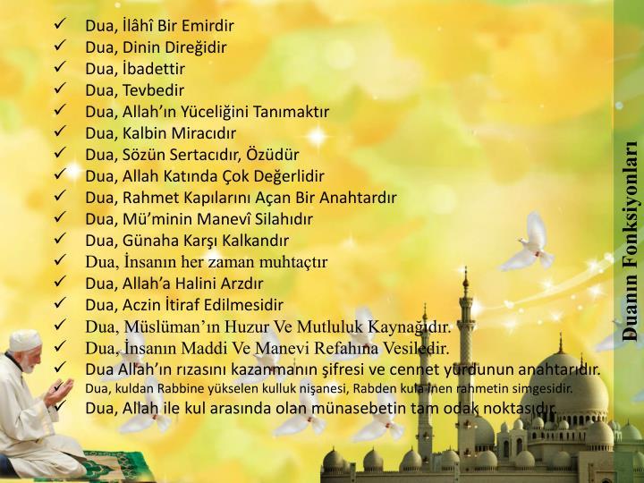 Duanın Fonksiyonları