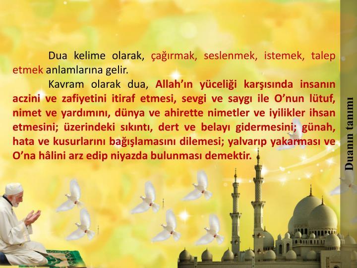 Duanın tanımı