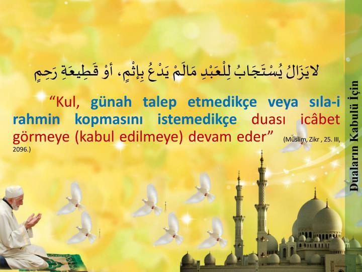 Duaların Kabulü İçin