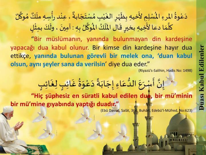 Duası Kabul Edilenler