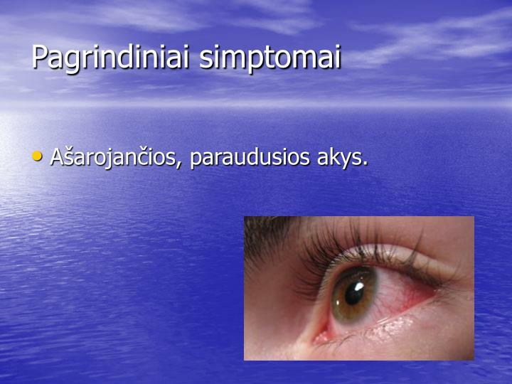 Pagrindiniai simptomai