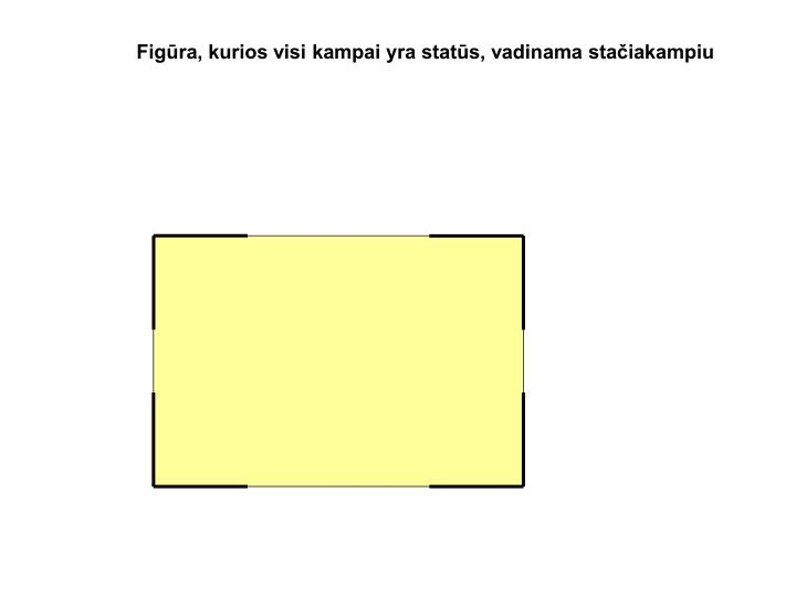 Figūra, kurios visi kampai yra statūs, vadinama stačiakampiu