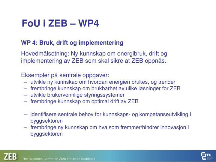 FoU i ZEB – WP4