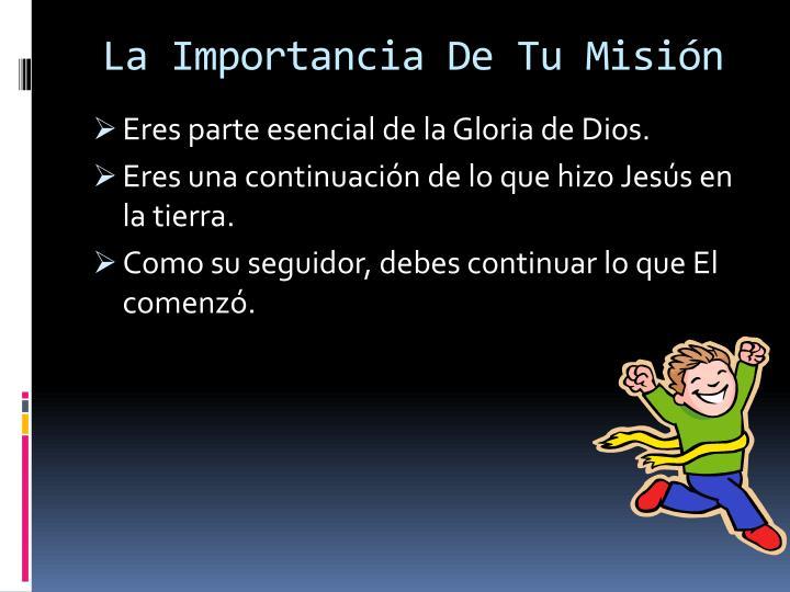 La Importancia De Tu Misión