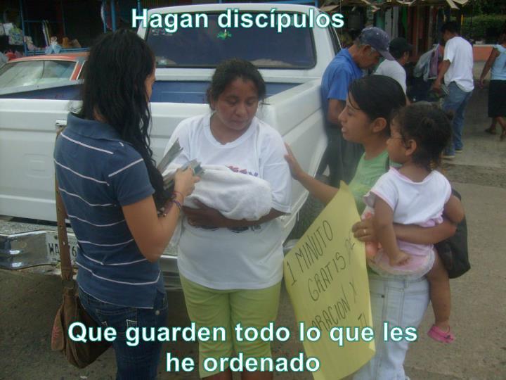 Hagan discípulos