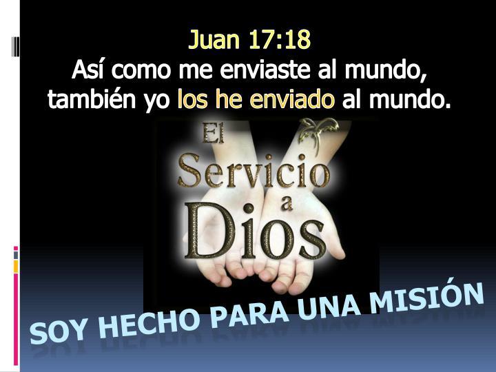 Juan 17:18