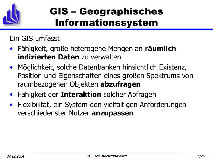 GIS – Geographisches Informationssystem