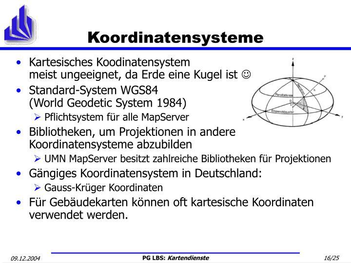 Koordinatensysteme