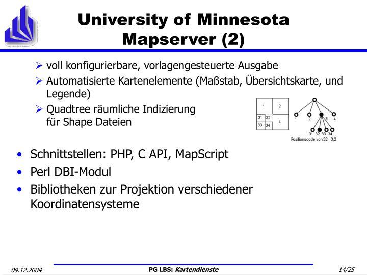 University of Minnesota Mapserver (2)