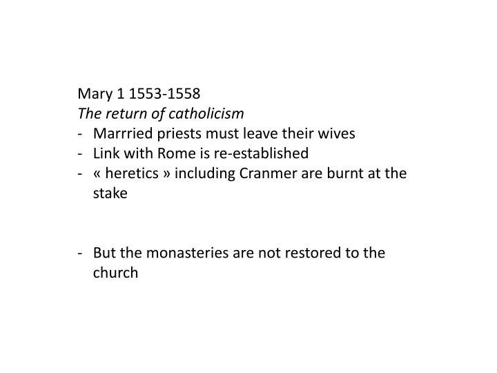 Mary 1 1553-1558
