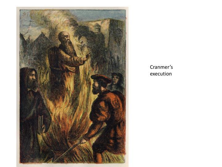 Cranmer's execution