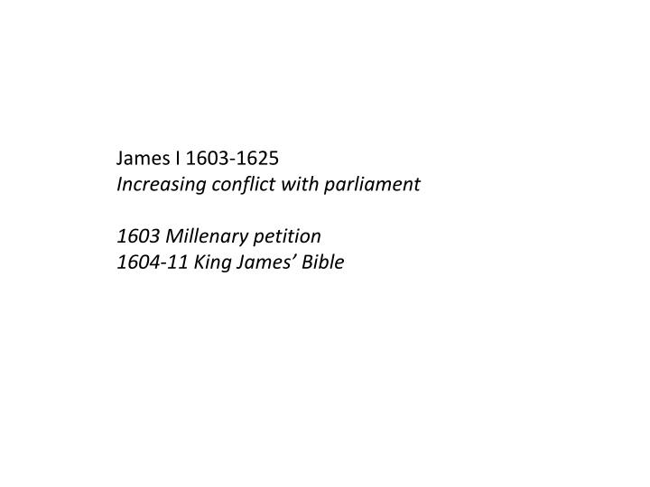 James I 1603-1625